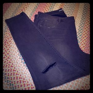Old Navy Distressed Black Jeans